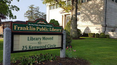 the Library is operating normal hours from its temporary location at 25 Kenwood Circle