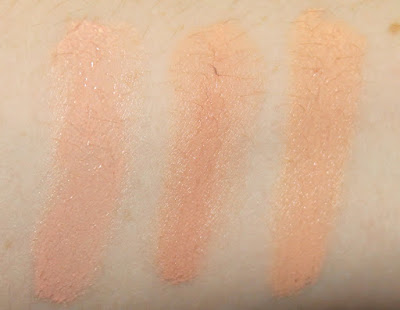 Becca Under Eye Brightening Corrector Bobbi Brown Corrector Light Bisque Benefit Erase Paste Swatch vs comparison