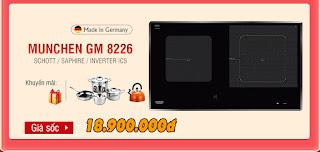 Ưu đãi mùa Euro: Bếp từ Munchen GM 8226 khuyến mãi cực lớn