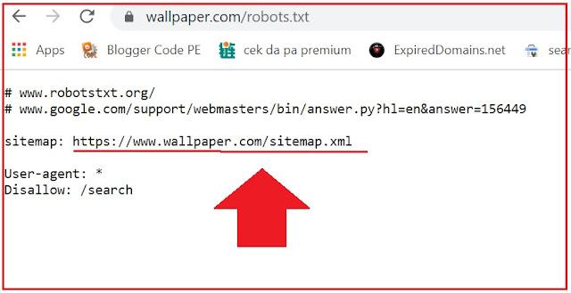 link sitemap web target agc nodejs di cPanel