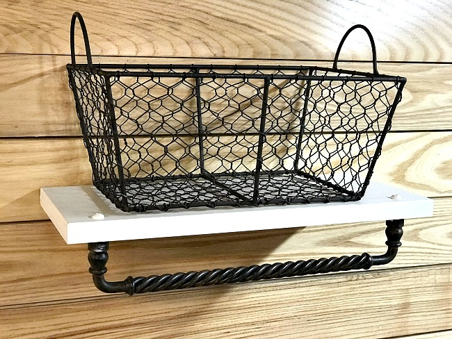 Basket shelf and towel bar