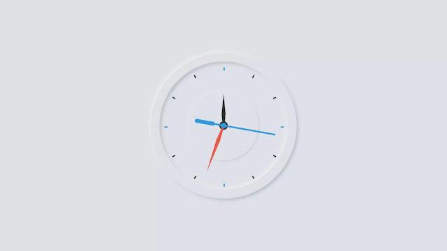 Neumorphism Working Analog Clock