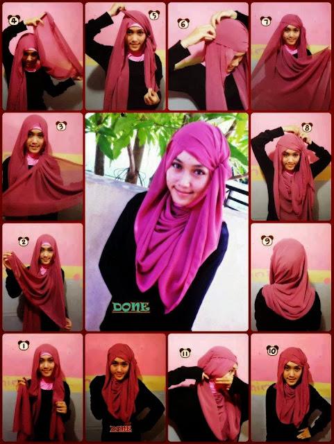 model jilbab pashmina modern