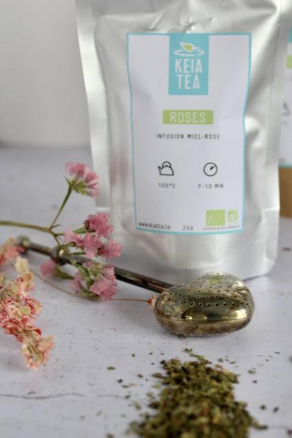 """alt=""""thé en vrac rose miel Keia Tea"""""""