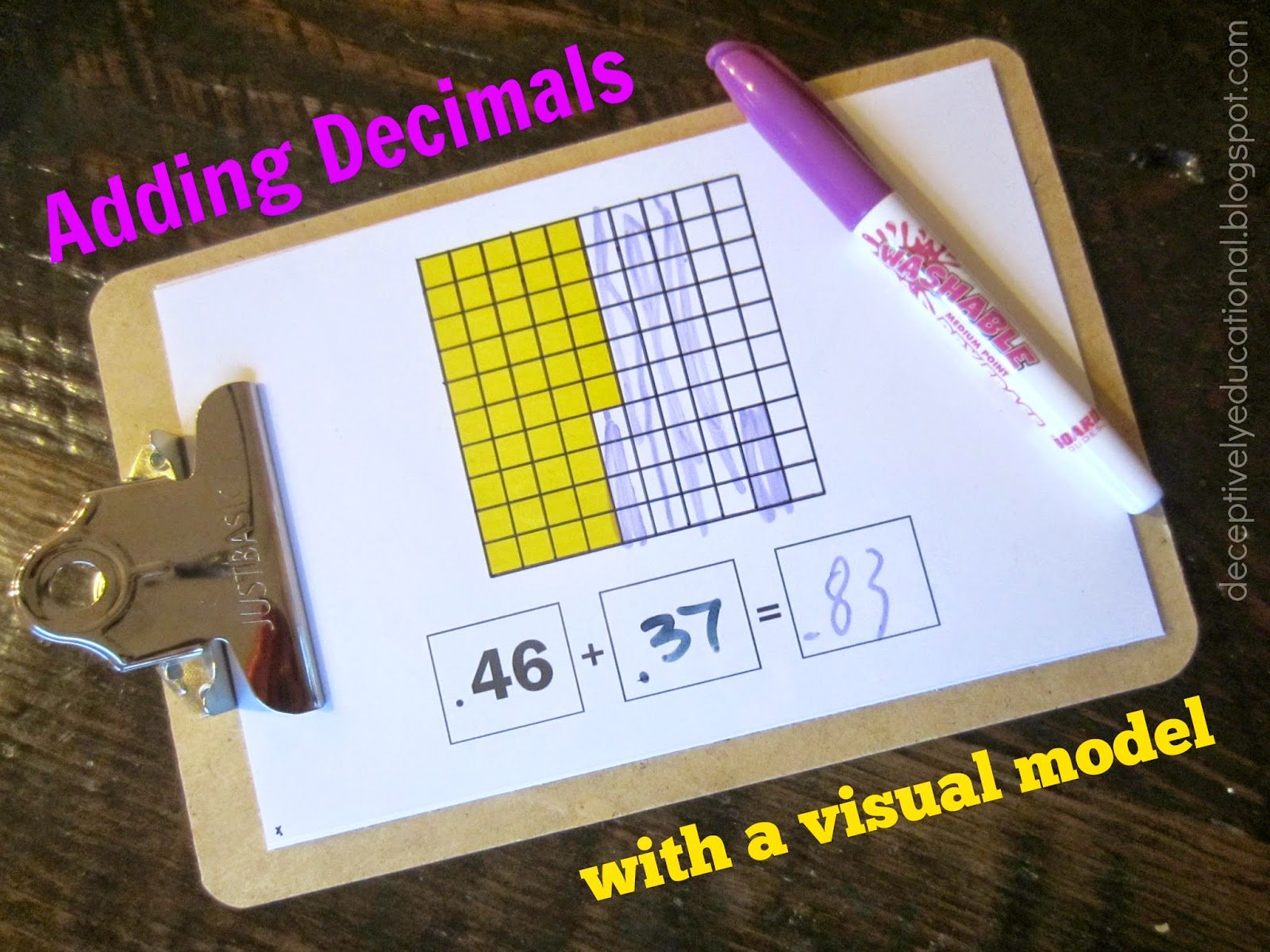 Relentlessly Fun Deceptively Educational Adding Decimals