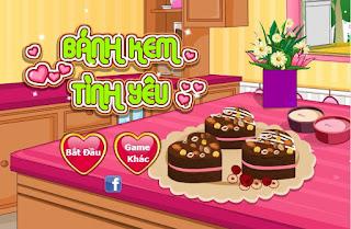 Chơi game bánh kem tình yêu vui nhất