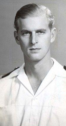 Prince Philip in 1947 (left), when he was Lieutenant Philip Mountbatten