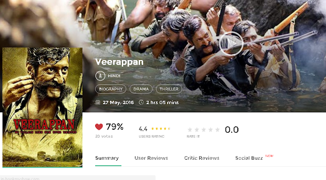 Veerappan 2016 Full Hindi Movie 300MB and 700MB