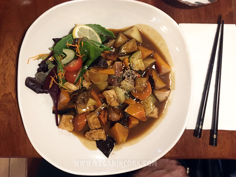 Tofu pumpkin curry Sakura Japanese Restaurant Cork