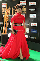 Apoorva in a Stunning Tight Leg Split Sleeveless Red Gown at IIFA Utsavam Awards 79.JPG