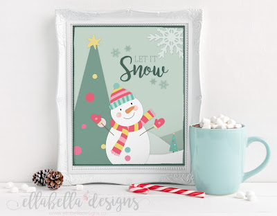 Free Christmas Wall Art Printables by Ellabella Designs