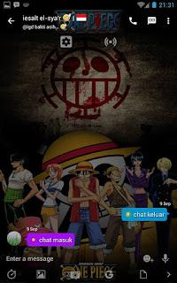 BBM MOD One Piece v3.0.1.25 APK - BBM Tema Anime