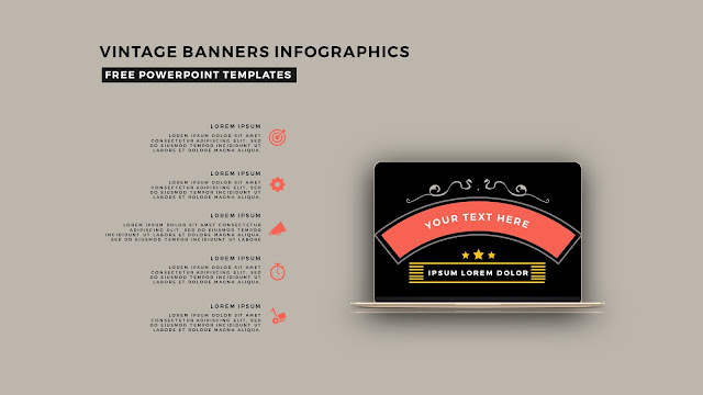 Vintage Banners Infographic Free PowerPoint Template Slide 20