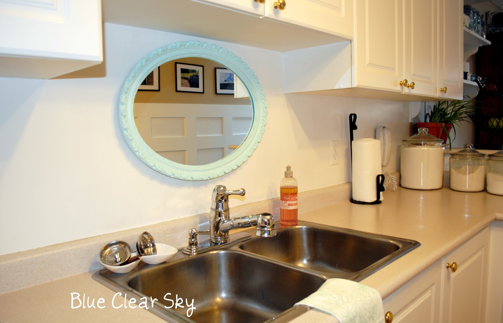 Mirrors above Kitchen Cabinets