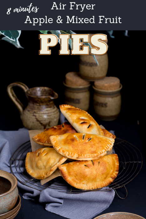 air fryer apple and mixed fruit pies