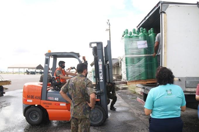 Grossos e Areia Branca integram a lista dos municípios que receberão cilindros de oxigênio enviados pelo Ministério da Saúde