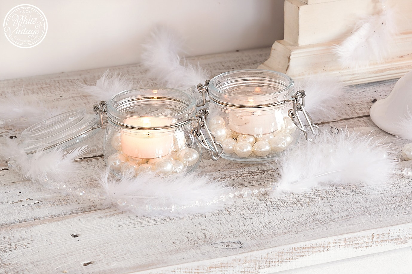 deko selber machen stilvolle kerzenhalter aus draht white and vintage. Black Bedroom Furniture Sets. Home Design Ideas