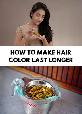 วิธีรักษาสีผม