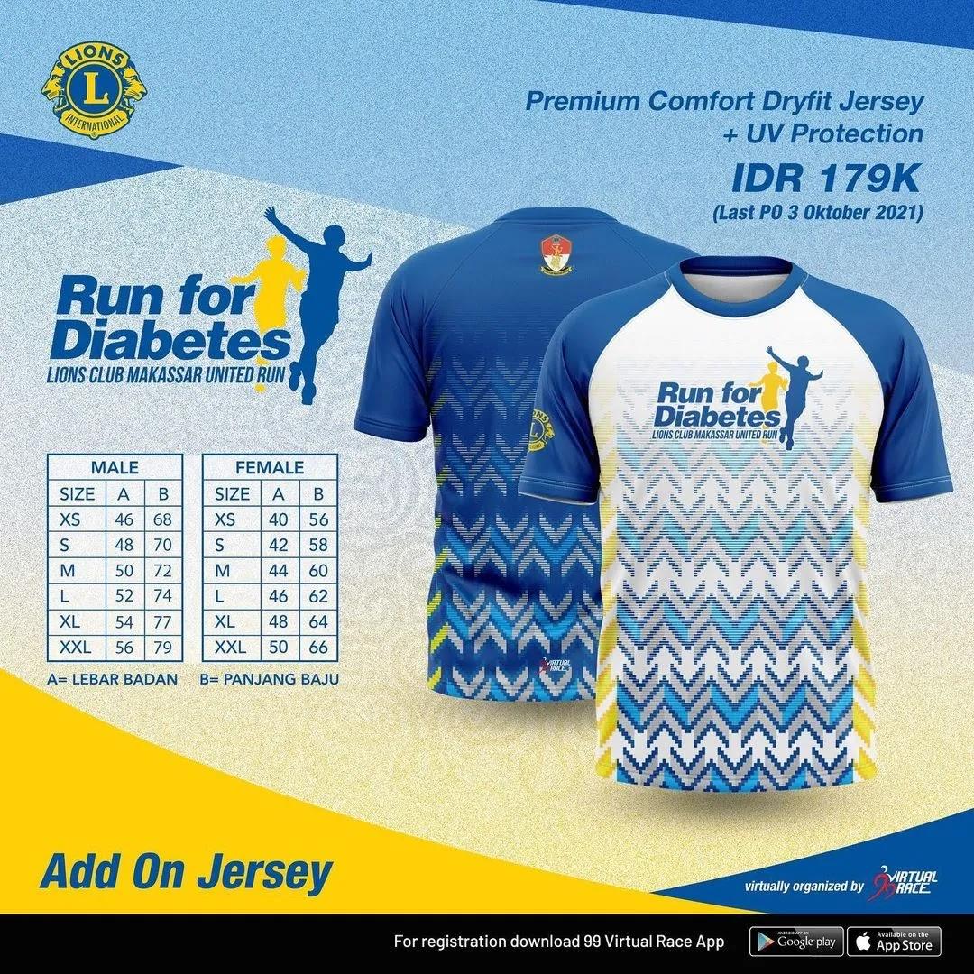 Running Jersey 👕 Run for Diabetes • 2021