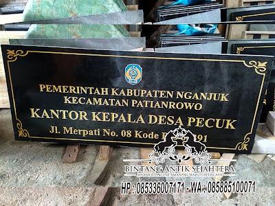 Prasasti Granit, Papan Nama Kantor Pemerintahan, Papan Nama Granit