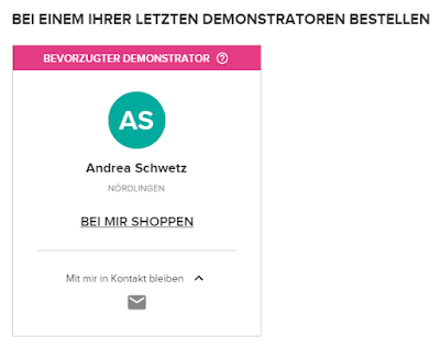 Stampin Up Online Shop Demonstrator Andrea Schwetz