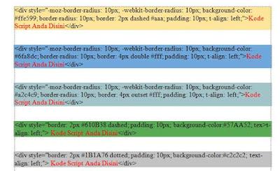 cara membuat kotak html