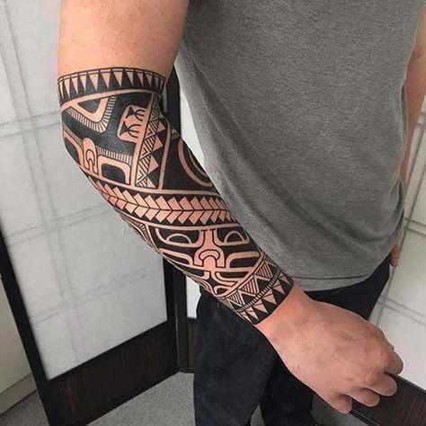 imagen de tatuaje maori en el antebrazo