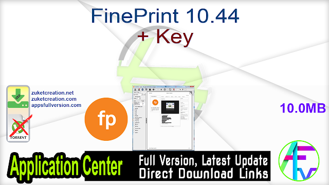 FinePrint 10.44 + Key