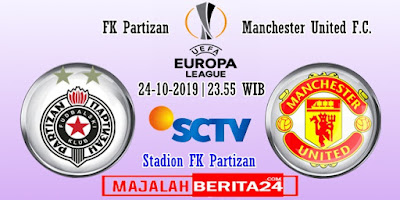 Prediksi FK Partizan vs Manchester United — 24 Oktober 2019