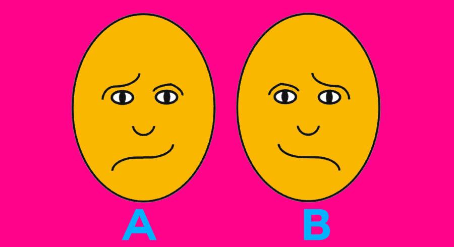¿Cuál de las dos caras luce feliz?