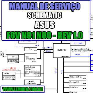 Esquema Elétrico Manual de Serviço Notebook Laptop Placa Mãe ASUS F8V L80V N81 N80 - REV 1.0 Schematic Service Manual Diagram Laptop Motherboard ASUS F8V L80V N81 N80 - REV 1.0 Esquematico Manual de Servicio Diagrama Electrico Portátil Placa Madre ASUS F8V L80V N81 N80 - REV 1.0
