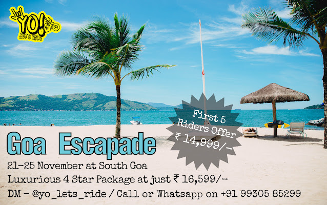 YO! Let's Ride To Goa | Goa Escapade Ride | 21-25 November 2020 | Register Now