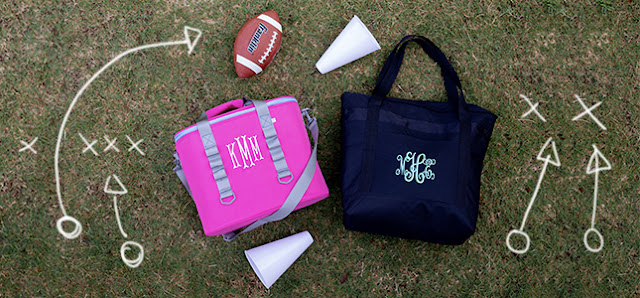 monogrammed coolers for your tailgating party