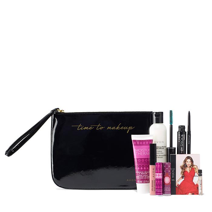 Time to Makeup Pouch & 8-Piece Essential Makeup Set free with your $60 order or more!