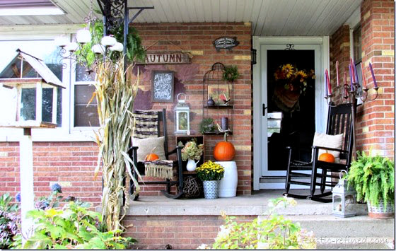 Rustic Fall Porch Decorating Inspiration