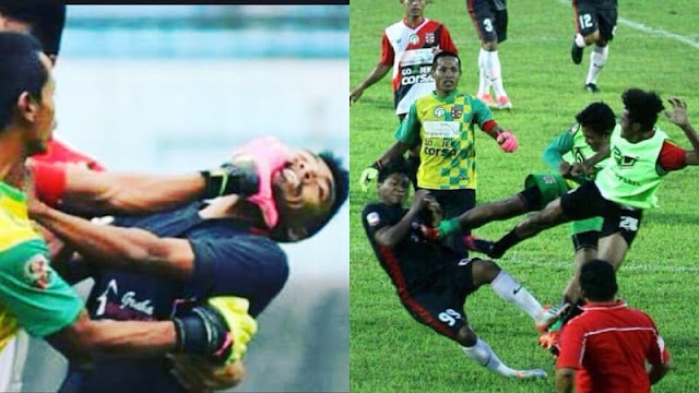 Astaghfirullah, Foto dan Video Laga Persewangi vs PSBK