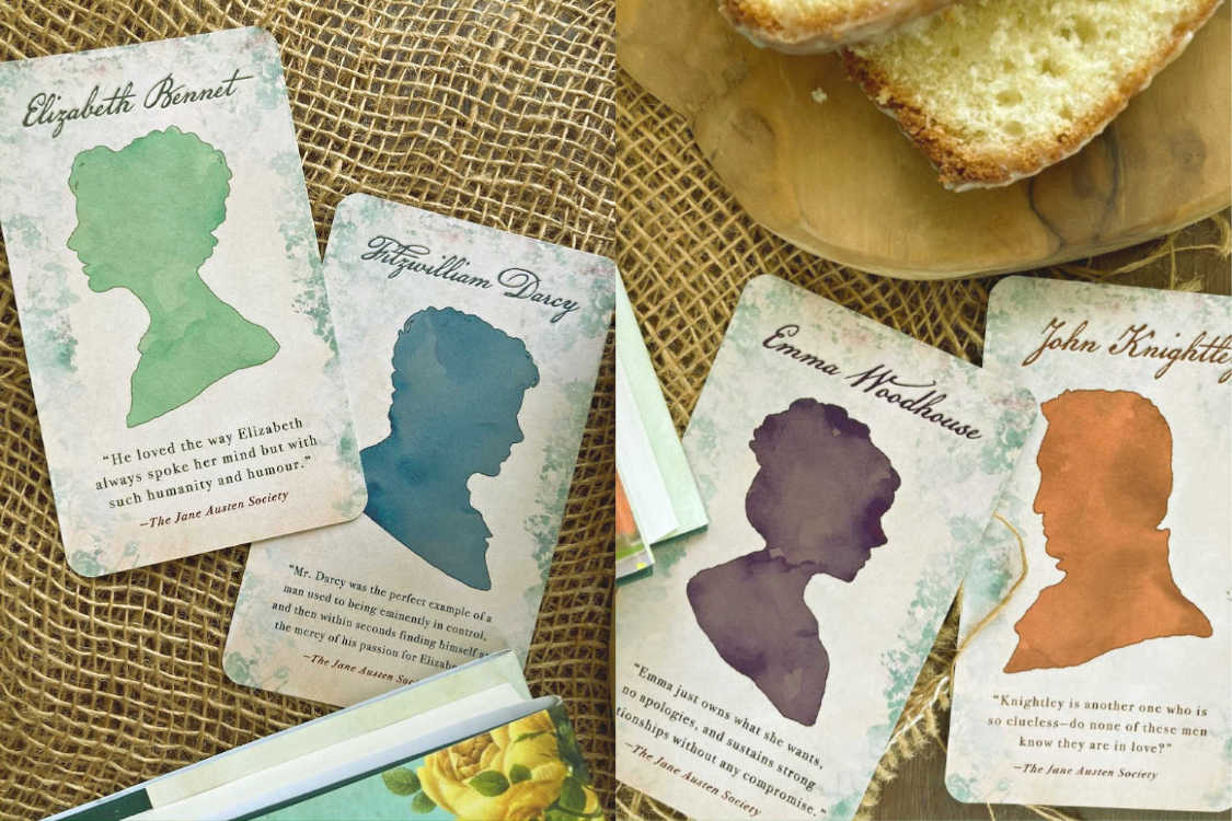 The Jane Austen Society character cards