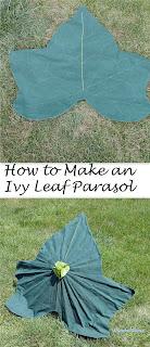 diy fairy ivy leaf parasol