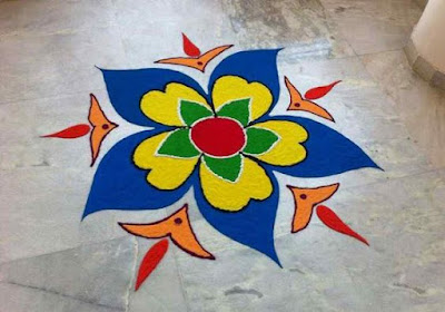 Simple New Year Rangoli Design for Happy New Year