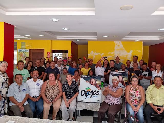 Reunião de Lideranças do Movimento Social com o ICPET para tratar sobre o pedido de plebiscito para a criação do estado do Tapajós define agenda com Legislativo e Executivo Santareno.