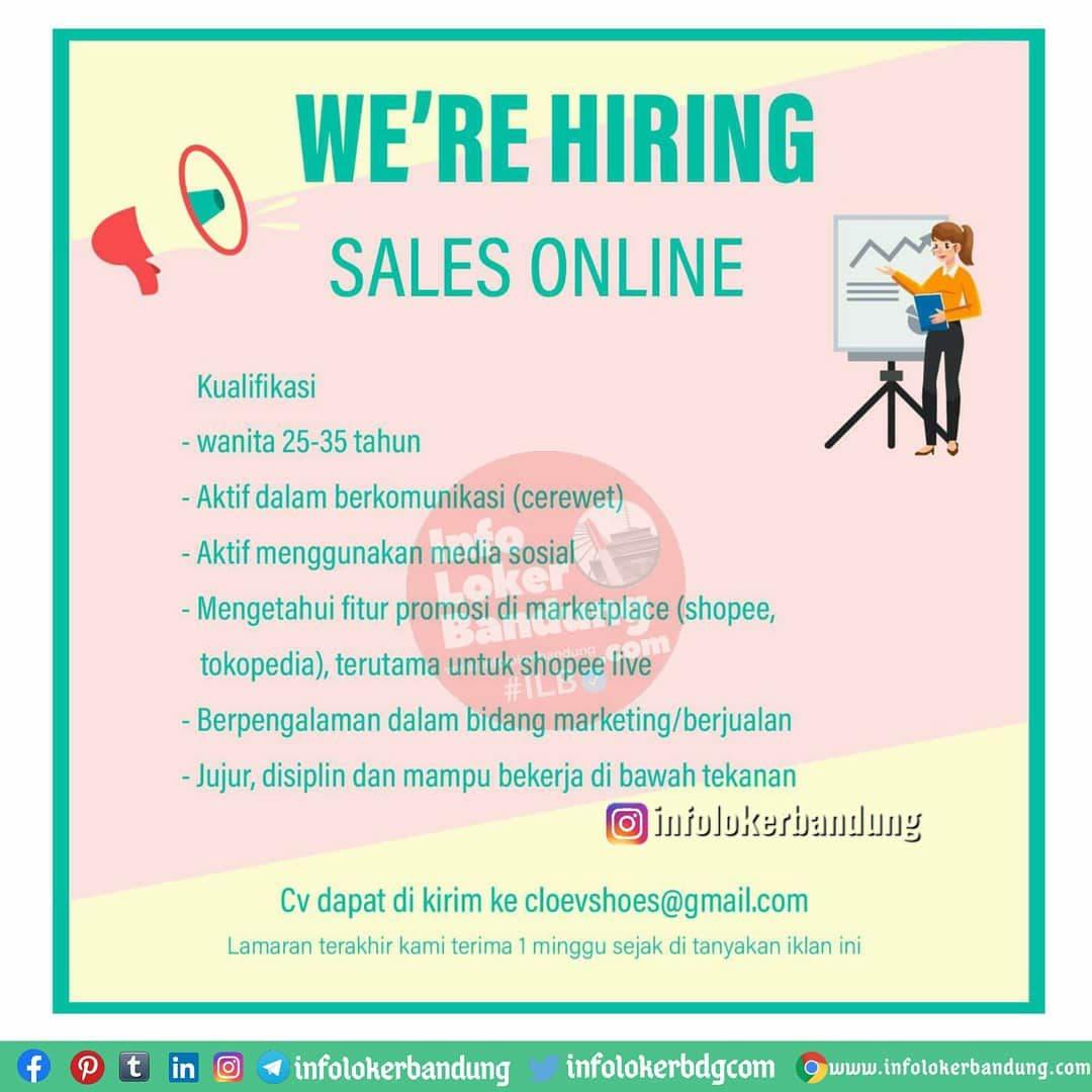 Lowongan Kerja Sales Online Cloe'V Shoes Bandung November 2020