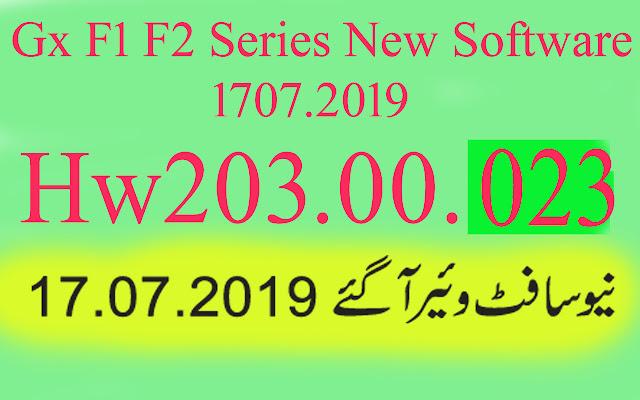 Gx6605s F1 F2 Series HW203.00.023 New Software