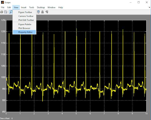 طريقة تغيير و تعديل المنحنيات و الرسومات البيانية على سيمولينك ماتلاب