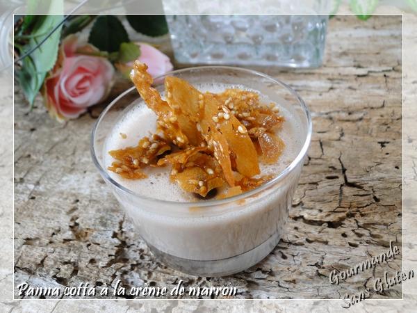 Panna cotta à la crème de marron et lait de coco