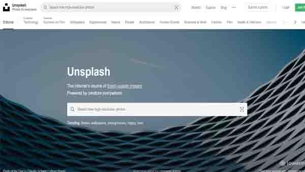 موقع unsplash لتحميل صور مجانية بدون حقوق ملكية