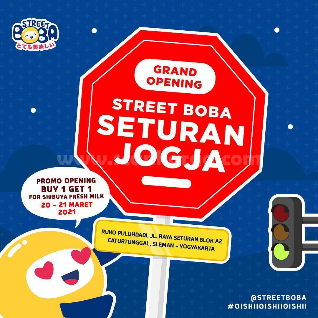 Street Boba Seturan Jogja Grand Opening Promo Beli 1 Gratis 1