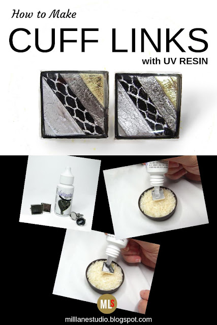 UV resin cuff link project sheet