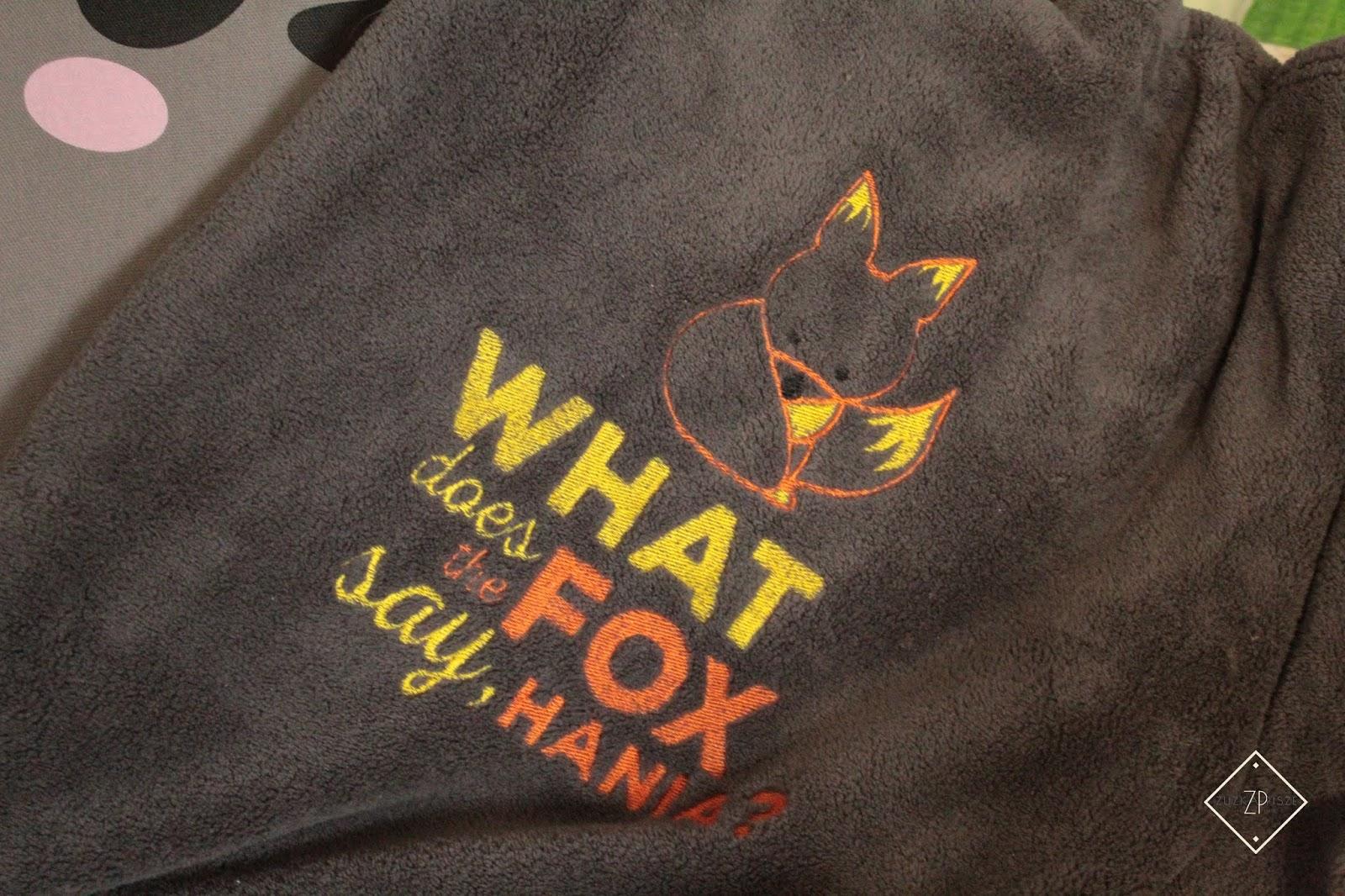 koc z haftem fox mygiftdna