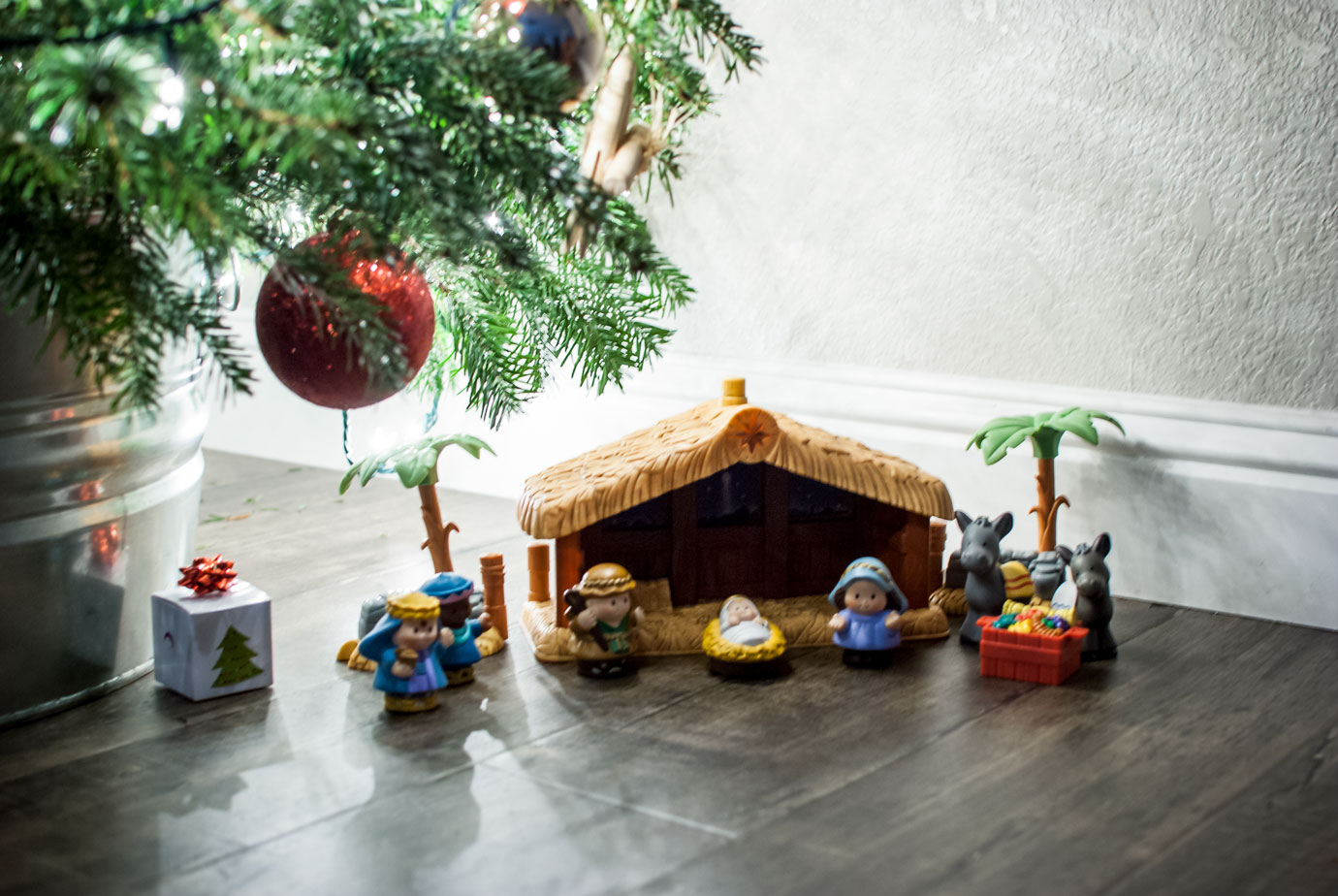 Fisher Price Nativity Scene Under a Christmas Tree