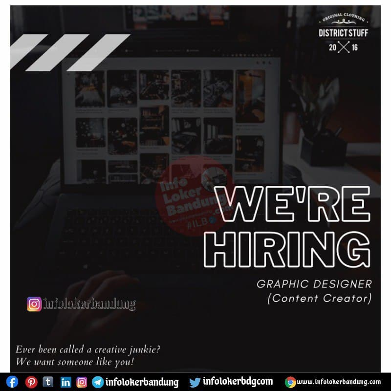 Lowongan Kerja District Stuff Bandung Juli 2021